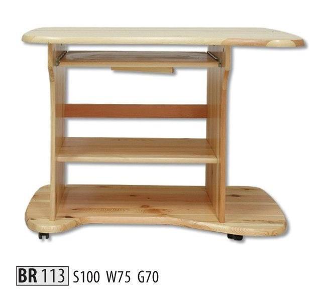 Drewmax Psací stůl BR113 masiv olše