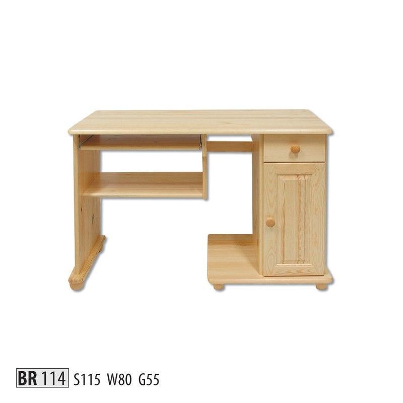 Drewmax Psací stůl BR114 masiv dub